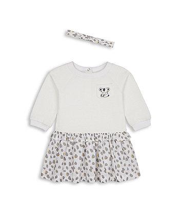 Mothercare Koala Twofer Dress And Headband Set