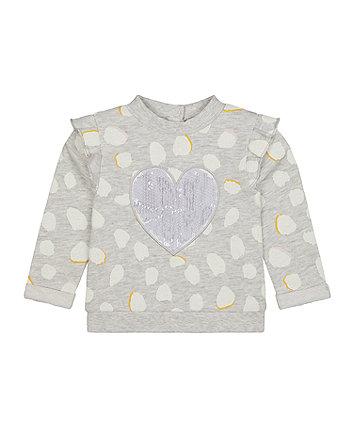 Mothercare grey heart sweat top