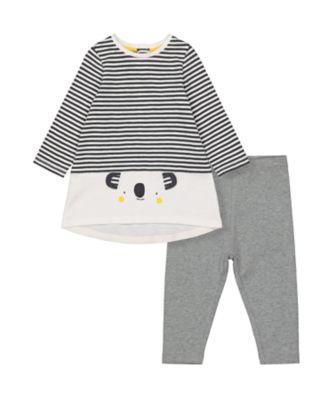 Mothercare Change Your Spots Stripe Koala Dress And Legging Set