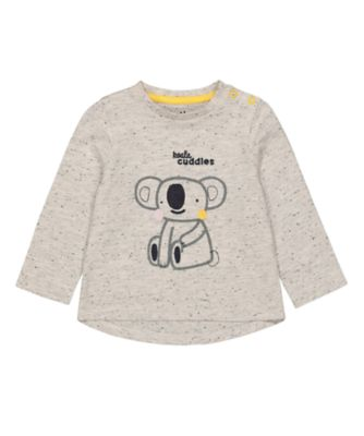 Mothercare Change Your Spots Grey Koala Cuddle Long Sleeve T-shirt