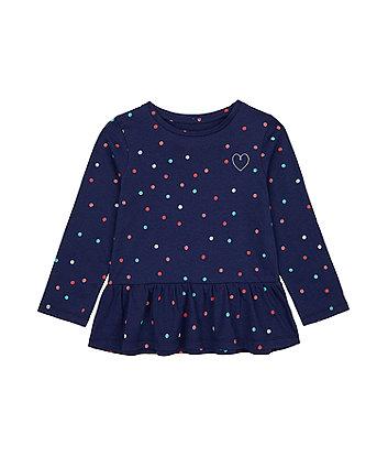 Mothercare Spotty Dropwaist T-Shirt