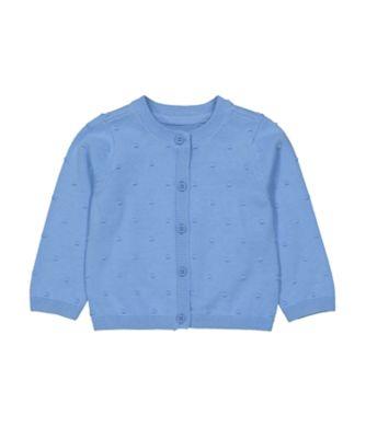 Mothercare Statement Flow Knit St Blue Popcorn Cardigan