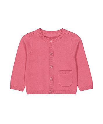 Mothercare Pink Pocket Cardigan