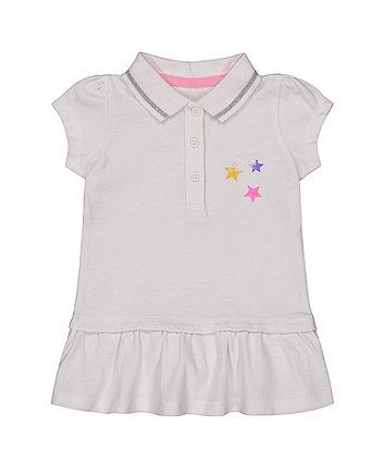 Mothercare White Pique Polo Dress