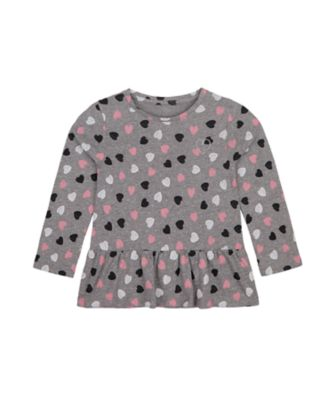 Mothercare Statement Flow Ts Grey Heart Long Sleeve T-Shirt