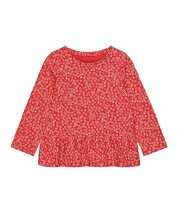 Mothercare Floral Peplum T-Shirt