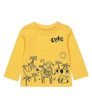 Mothercare Fashion Yellow Jungle T-Shirt