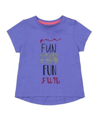 Mothercare MC61 Purple Fun Short Sleeve T-Shirt