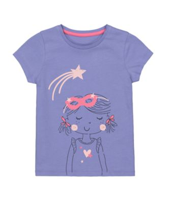 Mothercare MC61 Purple Girl Uber Short Sleeve T-Shirt