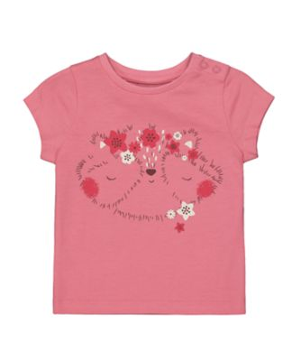 Mothercare Forest Pink Uber Short Sleeve T-Shirt