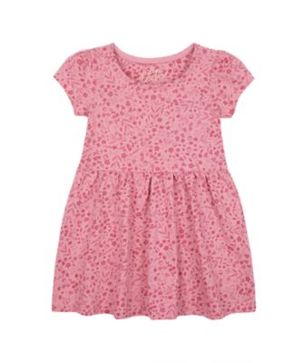 Mothercare Forest Pink Allover Print Jersey Short Sleeve Dress