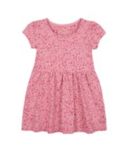 Mothercare Pink Floral Jersey Dress