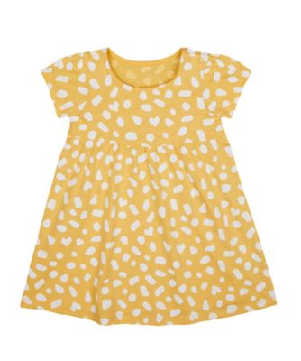 Mothercare Change Your Spots Mustard Spotty Epp Jersey Short Sleeve Dress