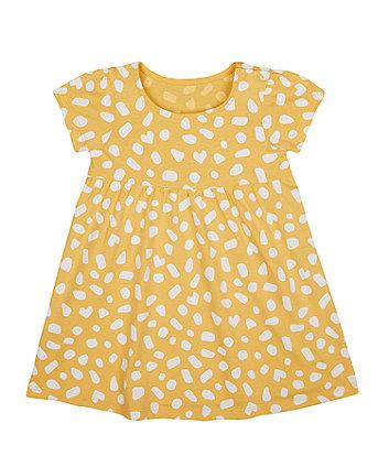 Mothercare Mustard Spot Jersey Dress