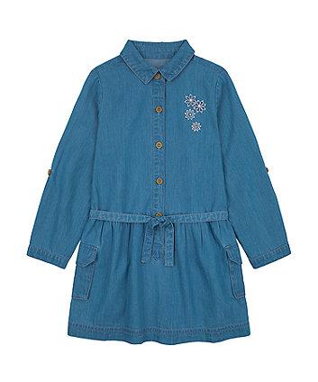 Mothercare Denim Beaded Shirt Dress