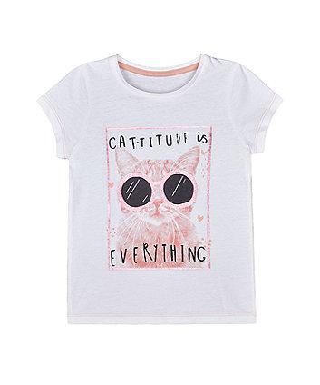 Mothercare Cat-Titude T-Shirt
