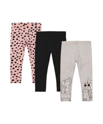 Mothercare Cool For Cats Graphic And Charcoal Legging - 3 Pack