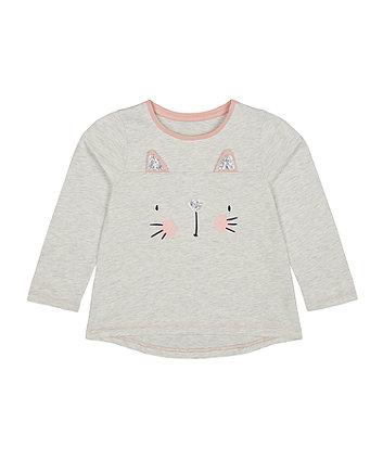 Mothercare Sequin Cat T-Shirt