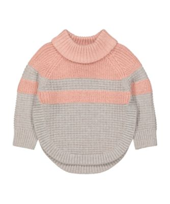 Mothercare Cool For Cats Pink And Grey Roll Neck Sweater