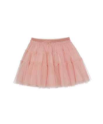 Mothercare Pink Tiered Mesh Skirt