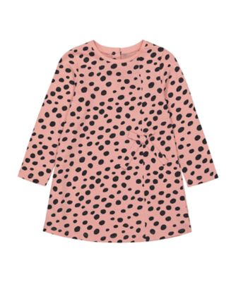 Mothercare Cool For Cats Pink Spotty Tie Side Dress