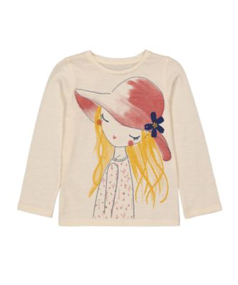 Mothercare Little Wanderer Girl With Hat Uber Long Sleeve T-Shirt
