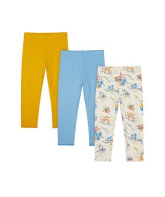 Mothercare Little Wanderer Allover Print And Mustard Legging - 3 Pack