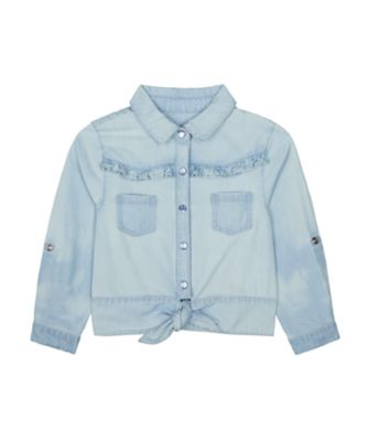 Mothercare Little Wanderer Chambray Tie Front Shirt