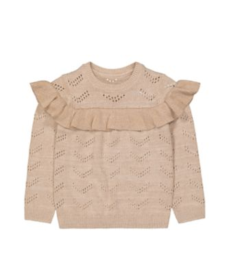 Mothercare Little Wanderer Twisted Gold Lurex Long Sleeve Knit Top