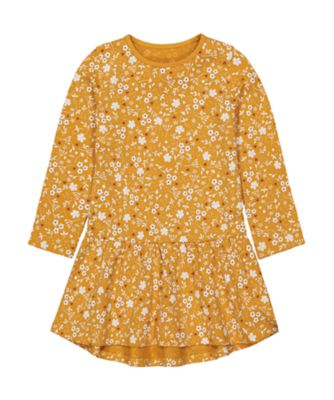 Mothercare Little Wanderer Mustard Allover Print EPP Jersey Dress