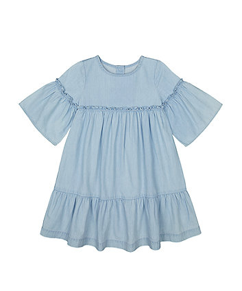 Mothercare Chambray Tiered Dress