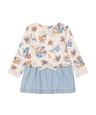 Mothercare Little Wanderer Allover Floral Print Twofer Dress