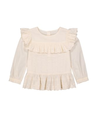 Mothercare Little Wanderer Crochet Long Sleeve Blouse
