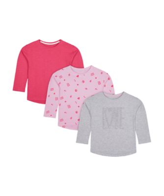 Mothercare Simplify Graphic Print And Plain T-Shirt - 3 Pack