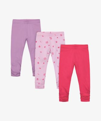 Mothercare Simplify Allover Print, Pink And Purple Legging - 3 Pack