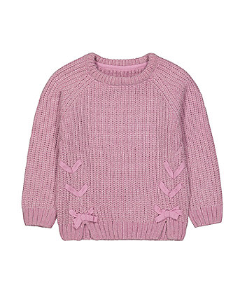 Mothercare Purple Chenille Knitted Jumper