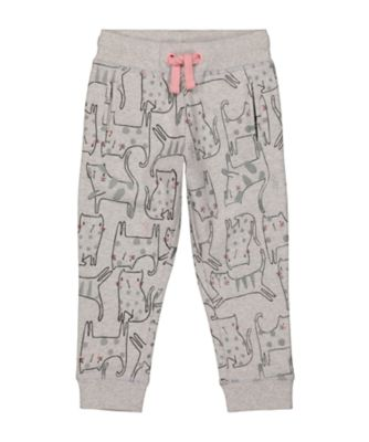 Mothercare Cool For Cats Grey Cat Allover Print Loopback Jogger
