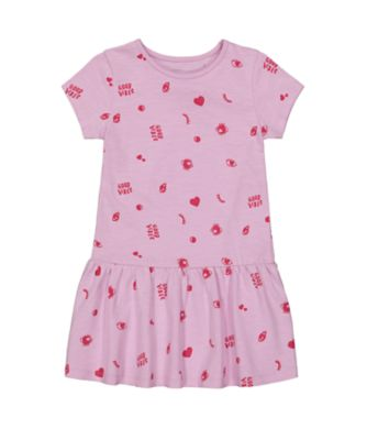 Mothercare Simplify Allover Print Drop Waist EPP Jersey Dress