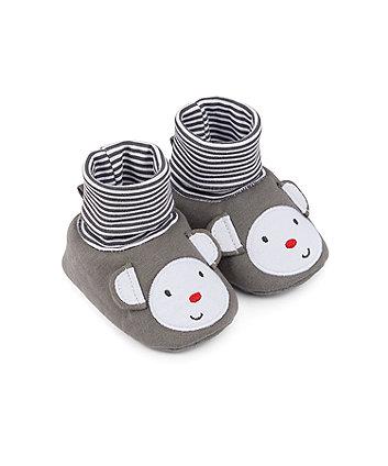 Mothercare Monkey Sock Top Baby Booties