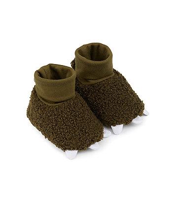 Mothercare Dinosaur Sock Top Baby Booties
