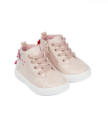 Mothercare First Walker Unicorn Hi-Top Trainers