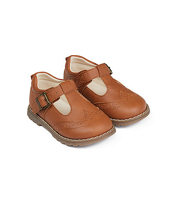 Mothercare First Walker Tan T-Bar Shoes