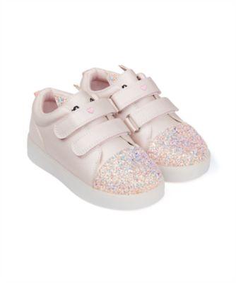 Mothercare Girls Novelty Light Up Trainer Shoe