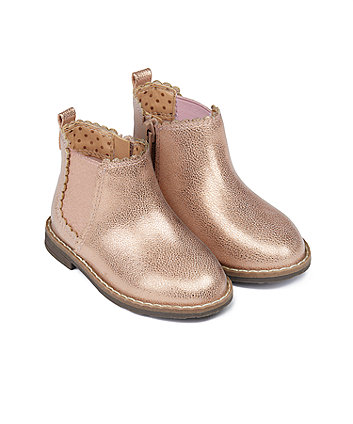 Mothercare First Walker Rose-Gold Chelsea Boots