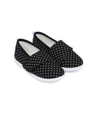 Mothercare Girls Epp Spot Allover Print Single Velcro Canvas Shoe