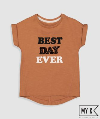 My K Girls Best Day Ever Slogan T-Shirt