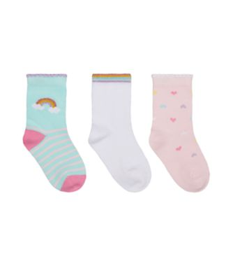 Mothercare Girls Rainbow Socks - 3 Pack