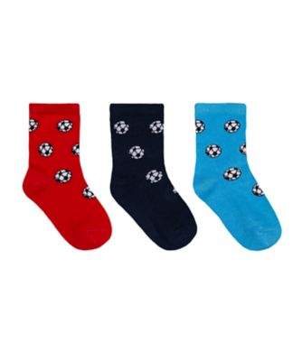 Mothercare Boys Football Allover Print Socks - 3 Pack
