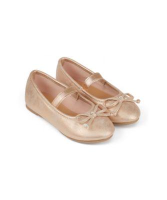Mothercare Girls Rose Gold EPP Ballerina Shoe
