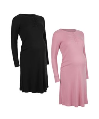 Mothercare Rib Nightdresses - 2 Pack